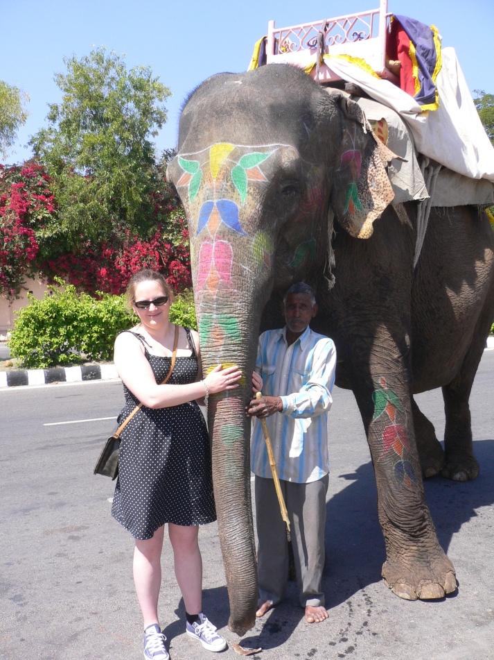 me with elephant
