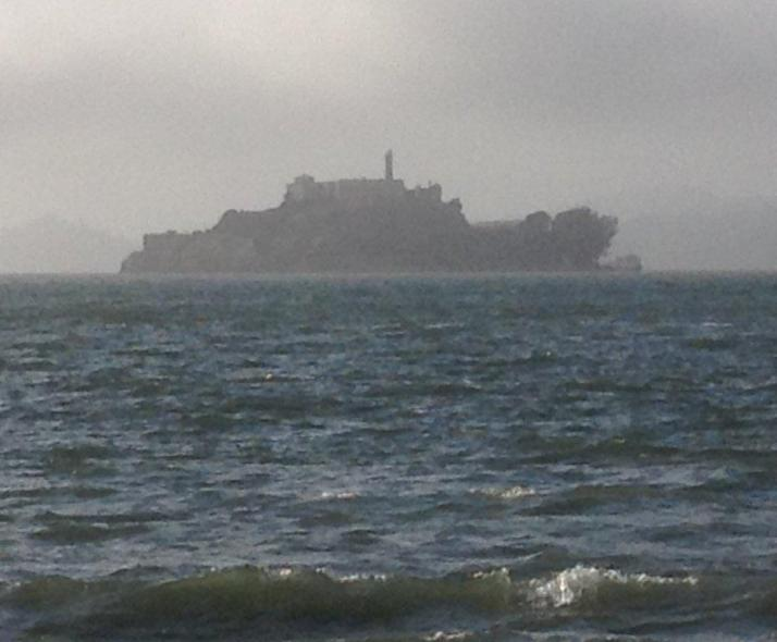 Alcatraz, view from the bay
