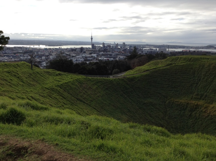 Mount Eden with Auckland city in the background