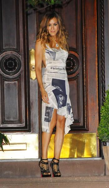 newsprint dress