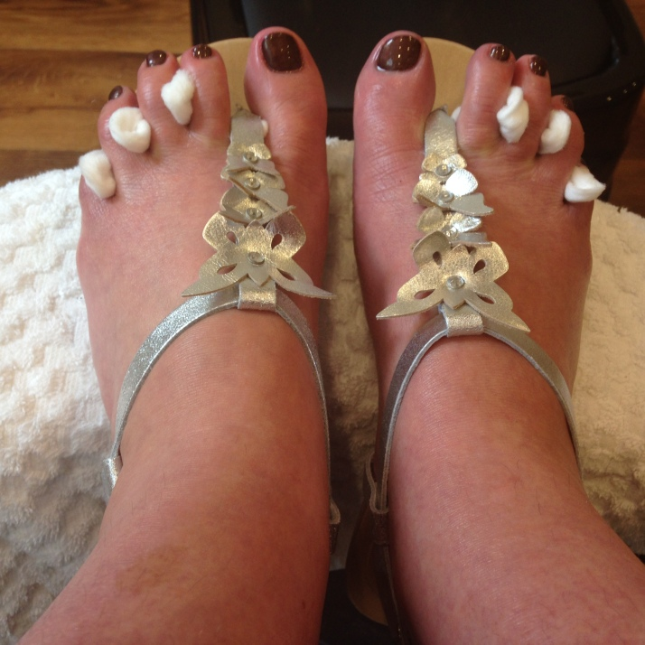 My pedicure - sandals Oasis