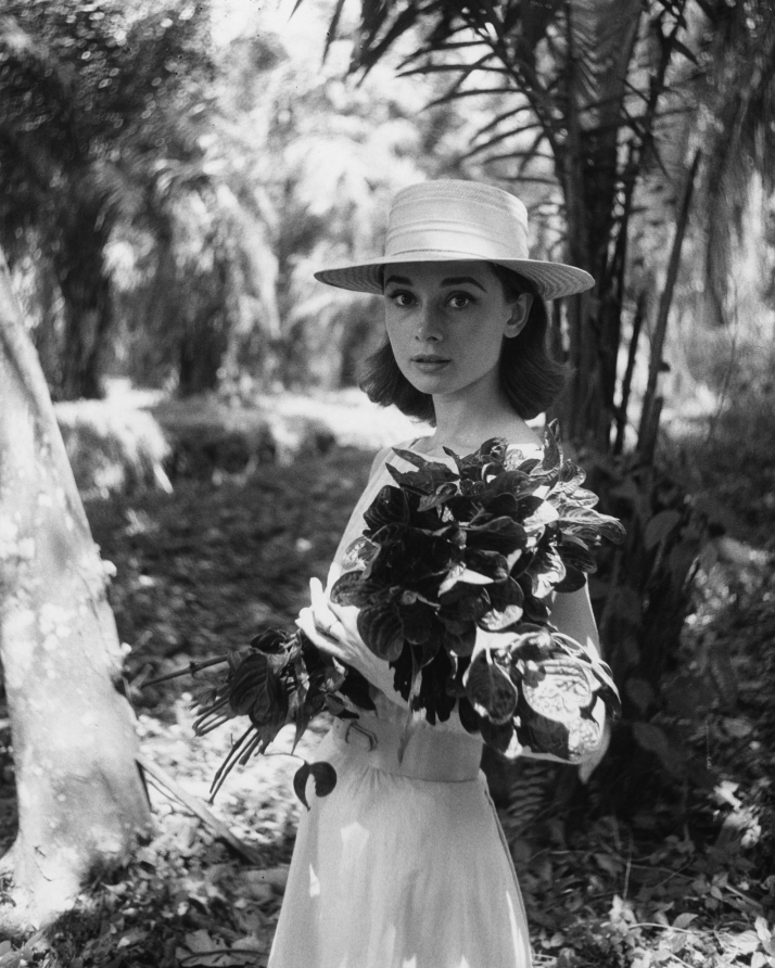 Audrey Hepburn on location in Africa for The Nun's Story by Leo Fuchs, 1958 ©Leo Fuchs