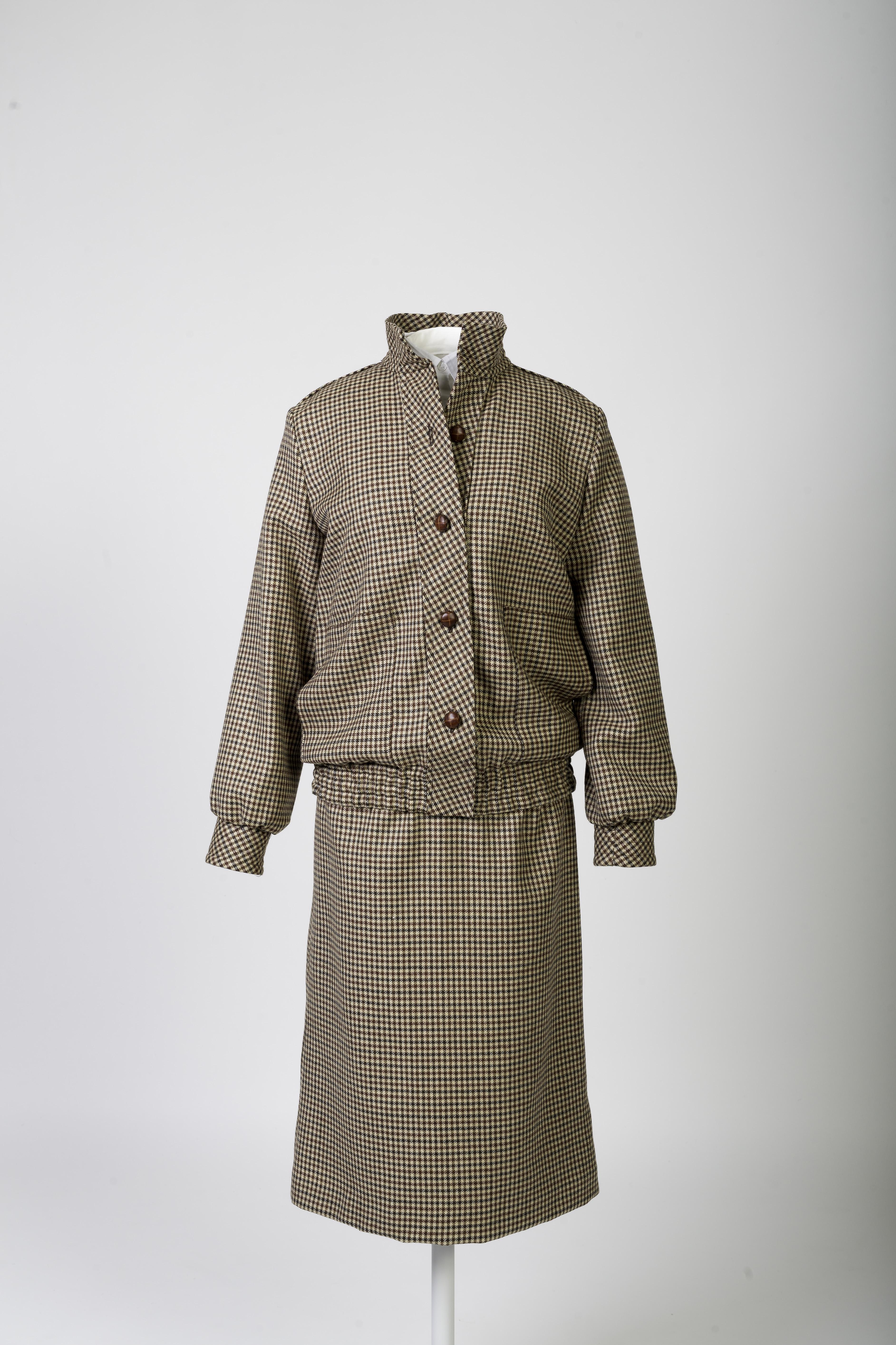 Bill Pashley 'honeymoon' brown tweed day suit © Historic Royal Palaces, Richard Lea Hair
