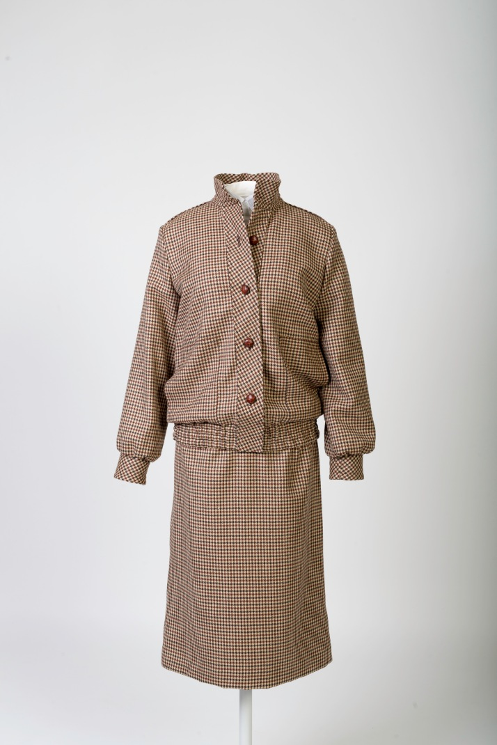 Bill Pashley 'honeymoon' brown tweed day suit © Historic Royal Palaces, Richard Lea Hair
