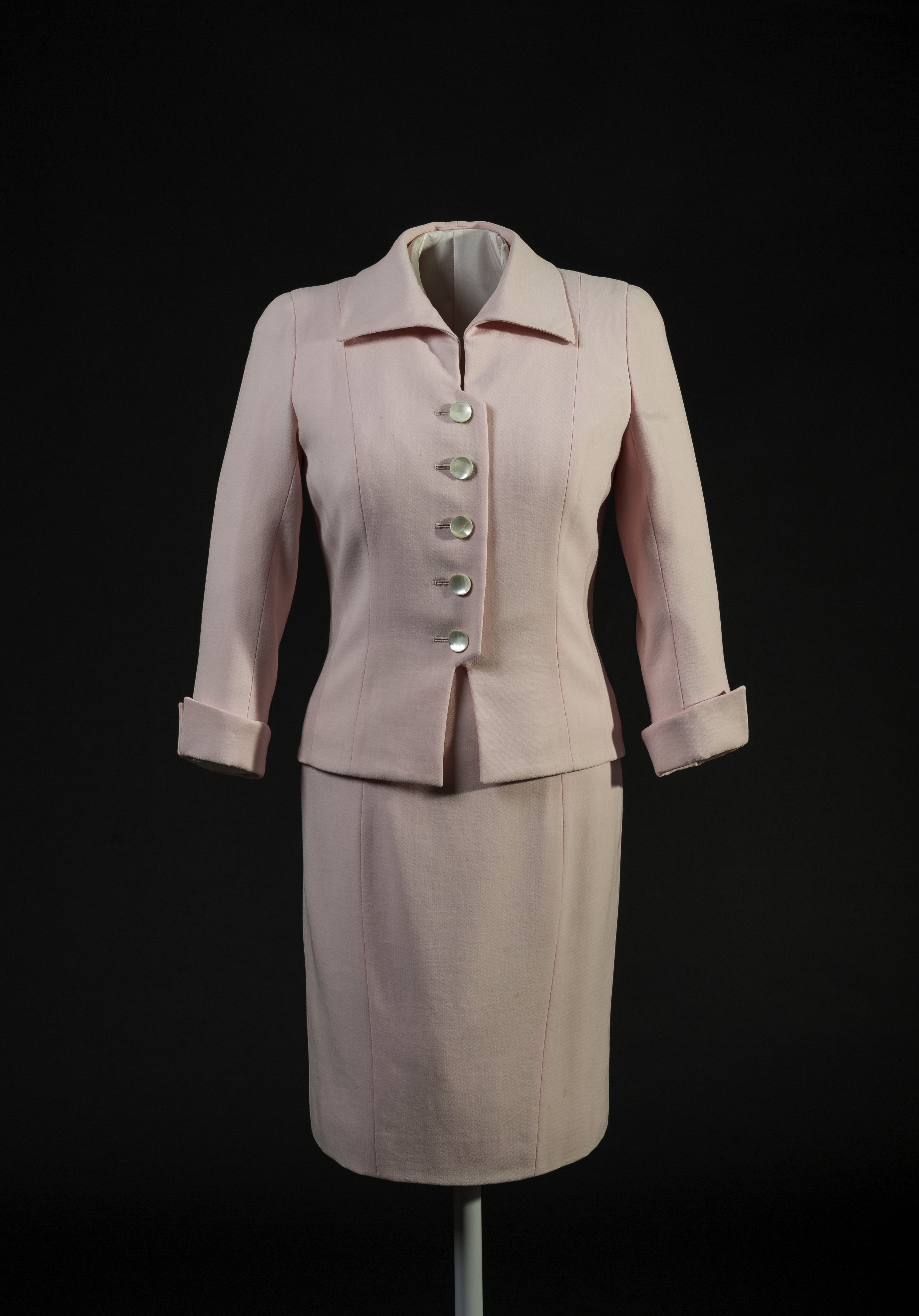 Catherine Walker, pink suit, © Historic Royal Palaces, Richard Lea Hair