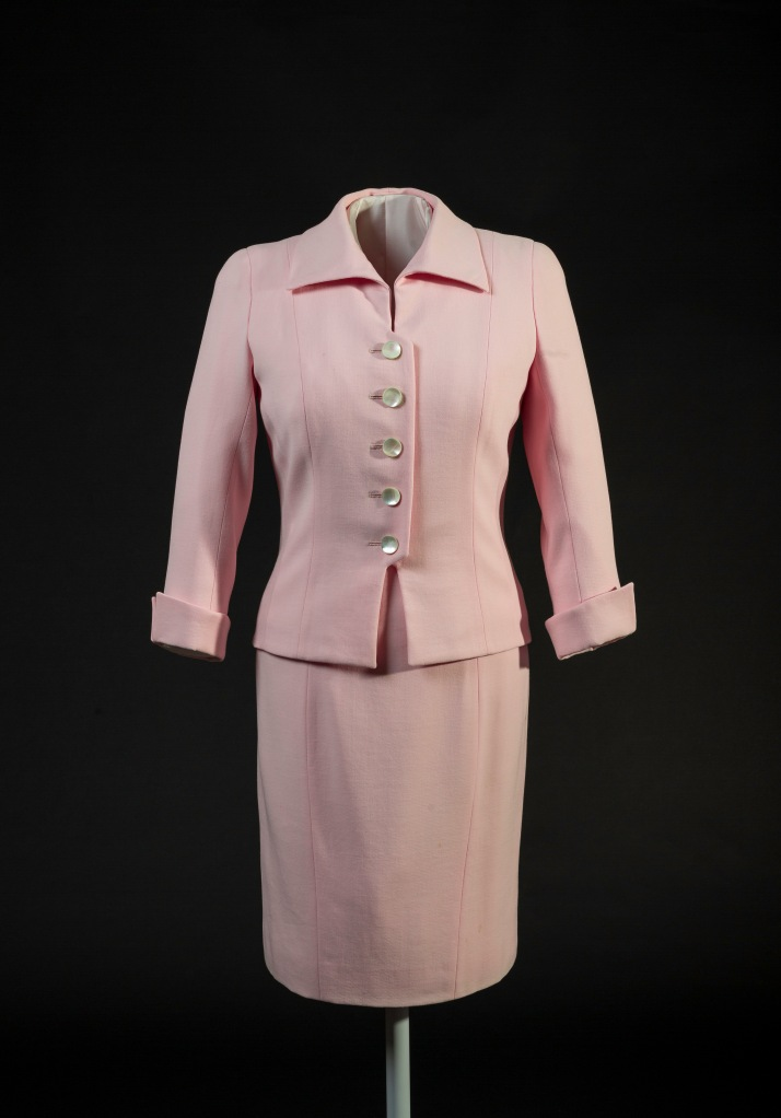Catherine Walker, pink suit, © Historic Royal Palaces, Richard Lea Hair