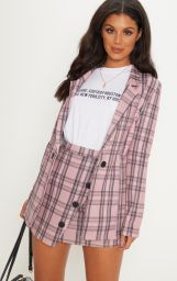 pink checked suit