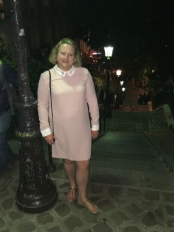 me in pink dress