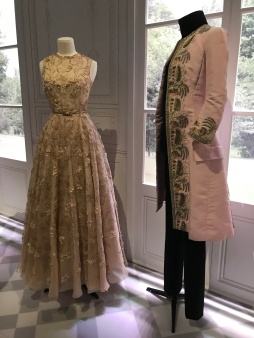 The pink jacket to the right is again Christian Dior - Raf Simons and part of the Haute Couture Autumn-Winter 2014 collection. The cut and embellishment clearly echo 18th century court attire